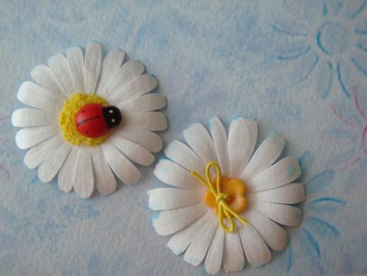 Цветы из бумаги ромашки мастер класс