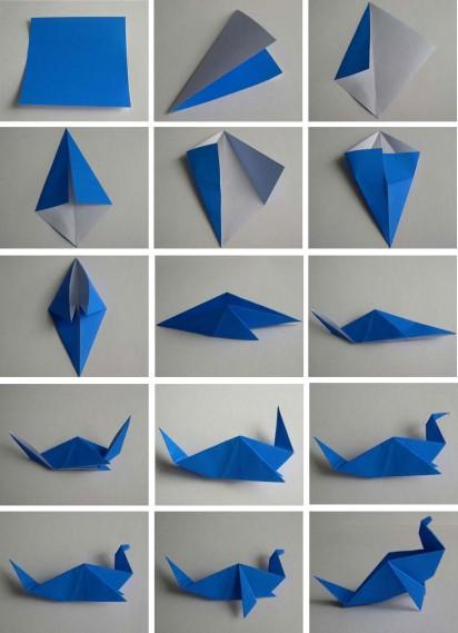Как сделать оригами журавлика? - Ответ здесь