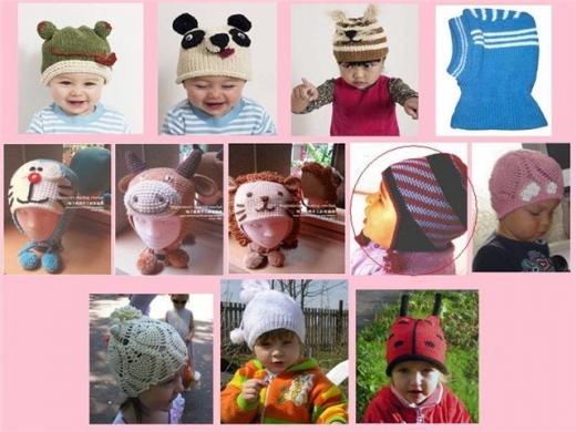 Детская шапка своими руками спицами