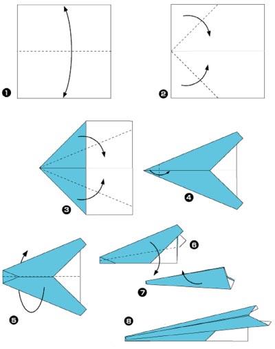 Схема самолетика из бумаги своими руками - Как делать самолетики из бумаги своими руками