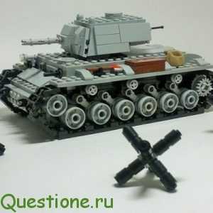 Как сделать из лего танк?