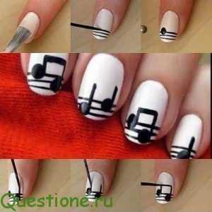 Как сделать красивый рисунок на ногтях?