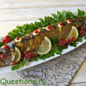 Как украсить фаршированную рыбу?