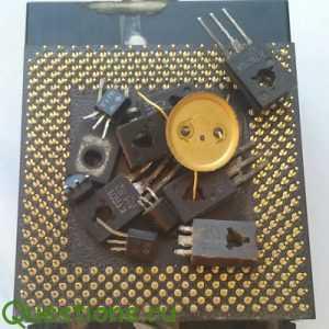 Как извлечь золото из радиодеталей?