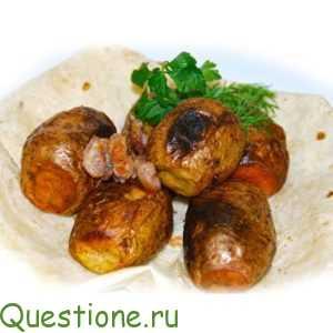 Как вкусно запечь картошечку в мундире в фольге?