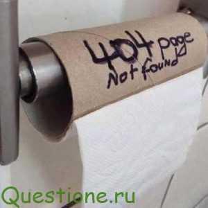 Что спасает, если сходил в туалет по-большому, а туалетная бумага отсутствует?