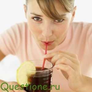 Какие реакции организма происходят после выпитого стакана диетической газированной воды?