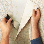 Как быстро снять бумажные обои со стен?
