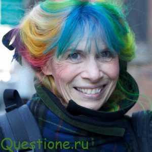 Зачем бабушки, красят волосы в фиолетовый или другие яркие цвета?