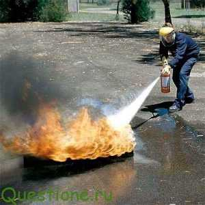 Как работают порошковые огнетушители