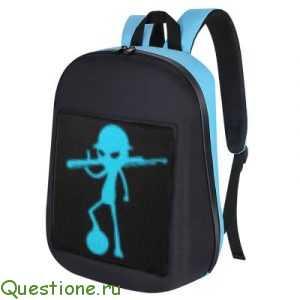 Что можно установить на LED-экран рюкзака