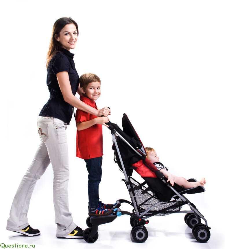 подножка на раму коляски для второго ребенка