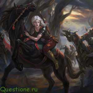 Почему дикая охота гоняется за Цири?
