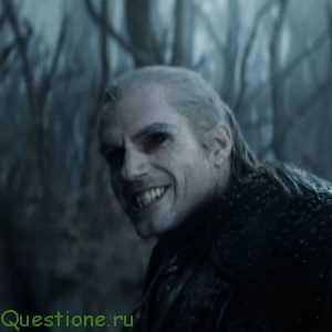 Почему у ведьмака черные глаза в сериале?